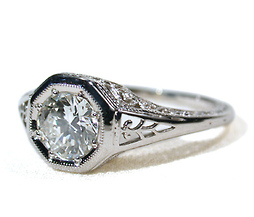 Decidedly Deco in a Contemporary Diamond Ring