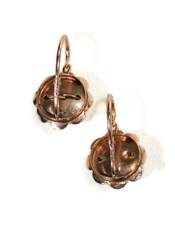 Victorian Rose Gold Diamond Earrings
