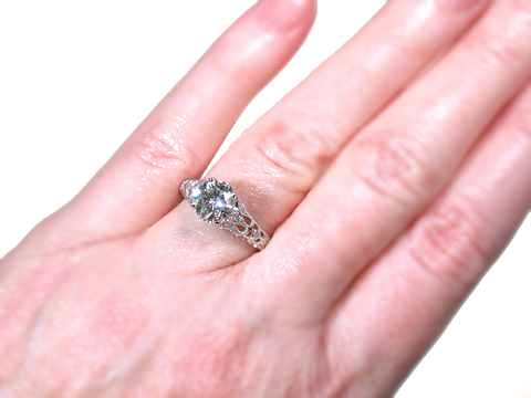 Signed Lucie Campbell Diamond Ring 1.50 c.