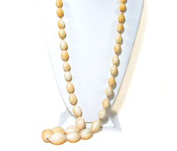 Deco Exoticism - Long Oval Ivory Beads