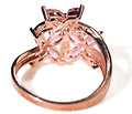 Pink Topaz Ring in Rose Gold