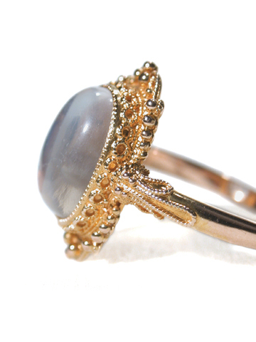 Moonstone Aura - Edwardian Gold Ring