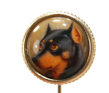 Signed Ford Enamel Dog Stickpin