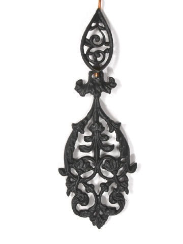 Ornate Berlin Iron Necklace & Earrings
