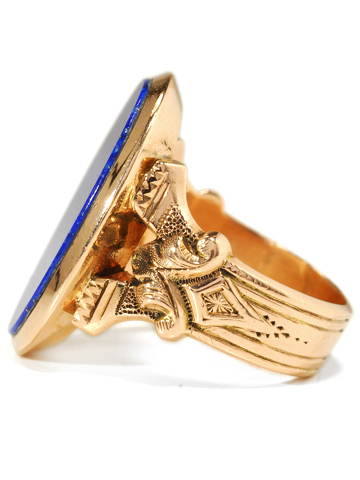 Starry Night - Victorian Lapis Lazuli Gold Ring