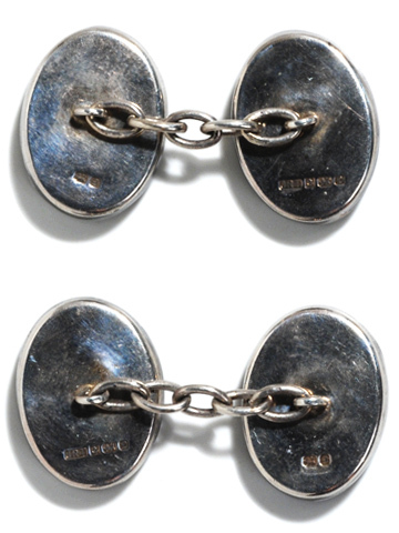 Quite Unusual: Blue John Silver Cufflinks