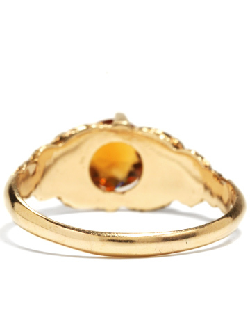 Art Nouveau Citrine Ring by House of Peacock
