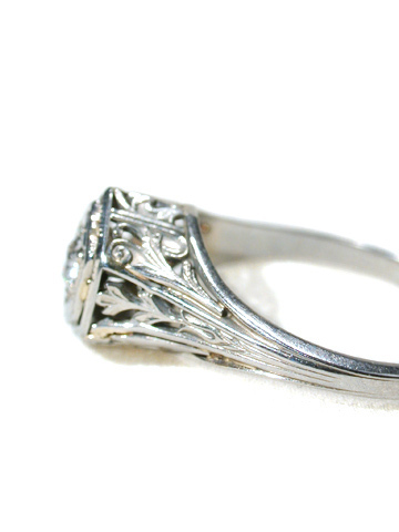 Perfect Little Art Deco Engagement Ring