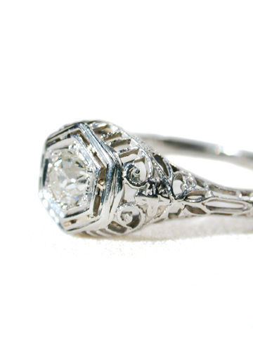 Angelic Art Deco Diamond Ring
