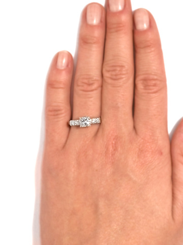 Understated Diamond Engagement Ring