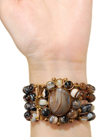 Antique Banded Agate Bracelet