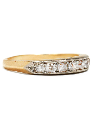 An Art Deco Diamond Half Eternity Ring