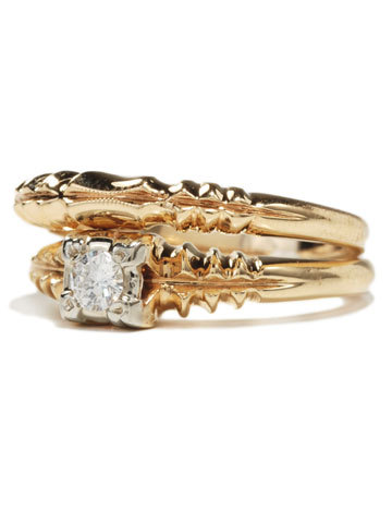 Glorious 14k Gold Wedding Set