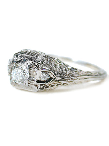 Minarets of Lace - Diamond Engagement Ring