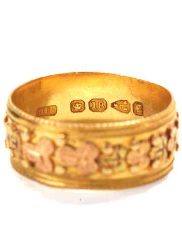 Antique Ornate Gold Wedding Band
