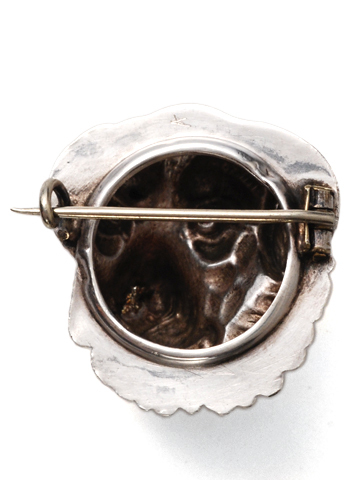 Victorian Silver Dog Brooch