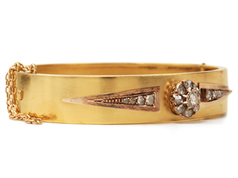 Victorian Sparkle in a Diamond Bangle