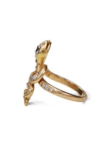 Edwardian Era Diamond Snake Ring