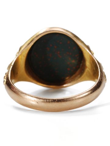Victorian Bloodstone Gold Ring