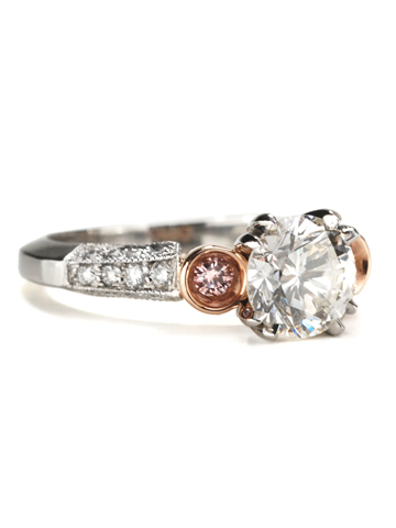 Passion in Pink - Diamond Platinum Ring