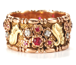Pleasure all Around - Ruby Diamond Eternity Band