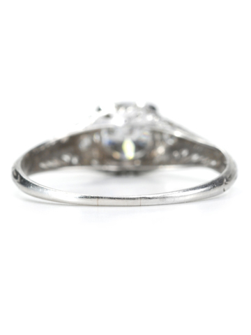 Art Deco Heart Motif Diamond Ring of .85c
