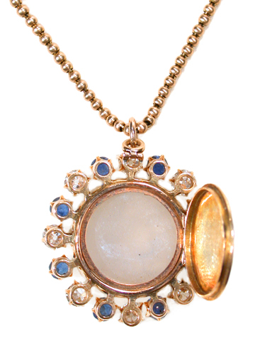 Amazing Antique Carved Moonstone Pendant Locket