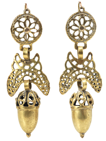 18th C. Iberian Acorn Earrings