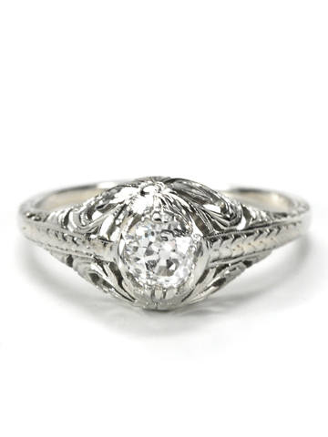 Early 20th C. Diamond Ring with Daisy Setting