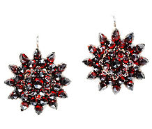 Timeless Victorian Bohemian Garnet Earrings