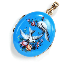 Victorian Birds of Happiness - Antique Locket