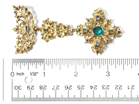 Spanish Splendor - 18th C. Emerald Pendant