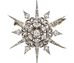Victorian Diamond Star Brooch