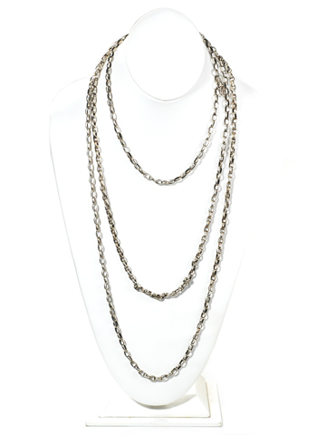 Luxury Length - Antique Silver Long Guard Chain