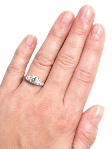 Step This Way: Diamond Platinum Ring