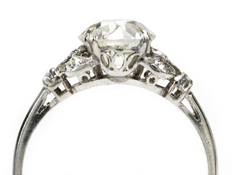 Icy Hot Old European Diamond Ring 1.92 Carats