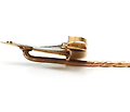 Edwardian Gold Quartz Sailboat  Stickpin
