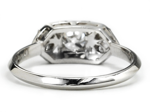 Art Deco Platinum Diamond Ring of  .47 c