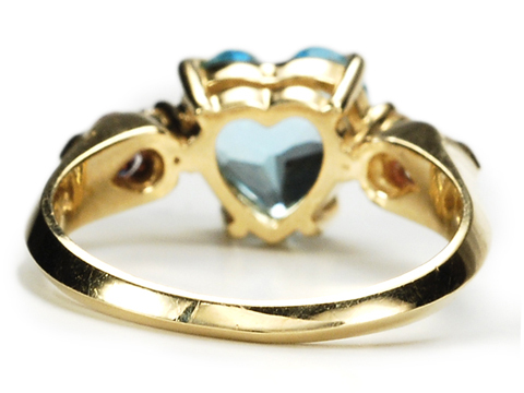 Heart of Blue Topaz Ring