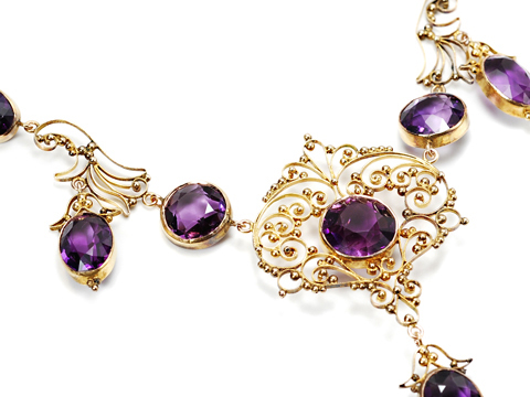 Edwardian Amethyst Necklace