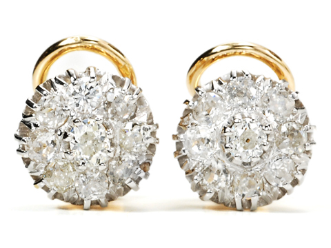 Enviable Diamond Cluster Earrings