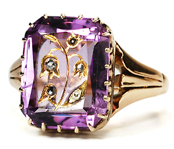 Set in Stone - Amethyst Ring