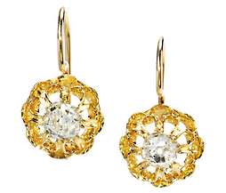 Edwardian Diamonds & Gold Earrings