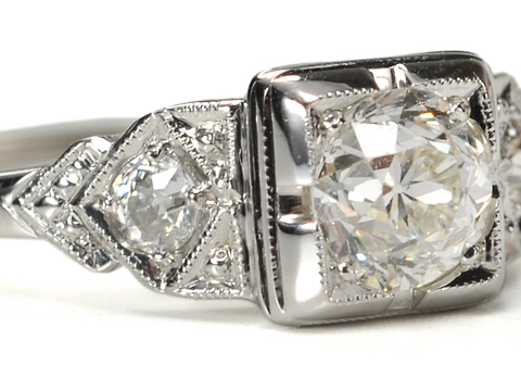 Geometries of Light - Vintage Diamond Ring