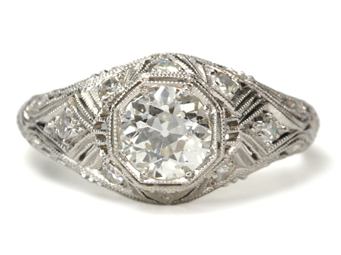 Art Deco Dreams: Platinum Diamond Ring