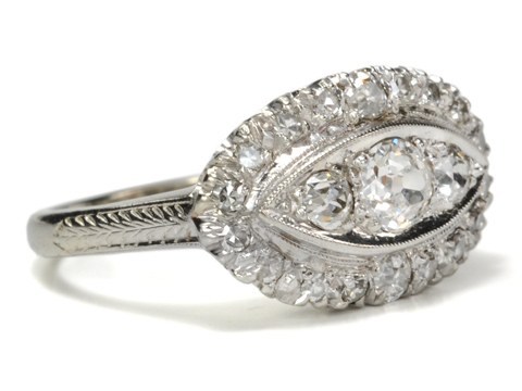 All-Seeing American Art Deco Diamond Ring