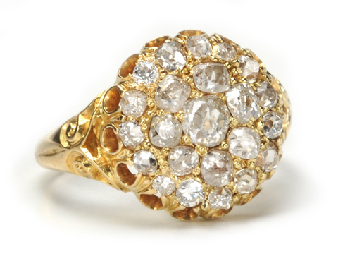 Transitional Times: Antique Diamond Cluster Ring