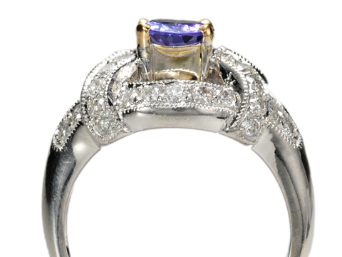 Modern Blues in a Tanzanite Diamond Ring