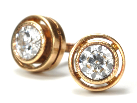 Edwardian Diamond Stud Earrings
