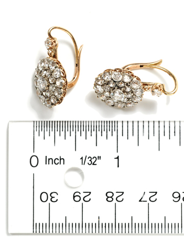 Timeless Edwardian Diamond Cluster Earrings
